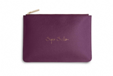 Katie Loxton SUPER SISTER Perfect Pouch Clutch Bag - Purple Berry